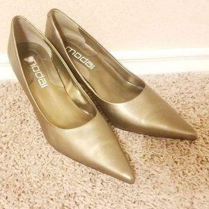 Moda Heels - Bronze 7M NWOT